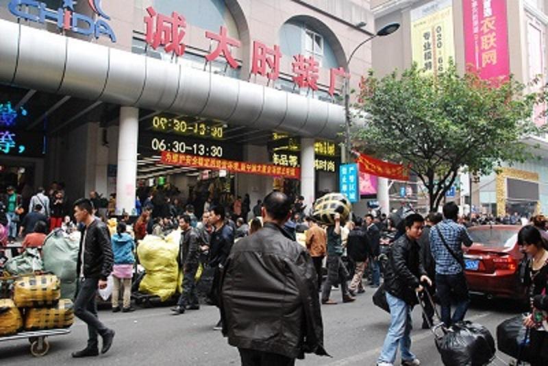 Chợ 13 Quảng Châu Trung Quốc nổi tiếng về hàng may mặc cho dân buôn